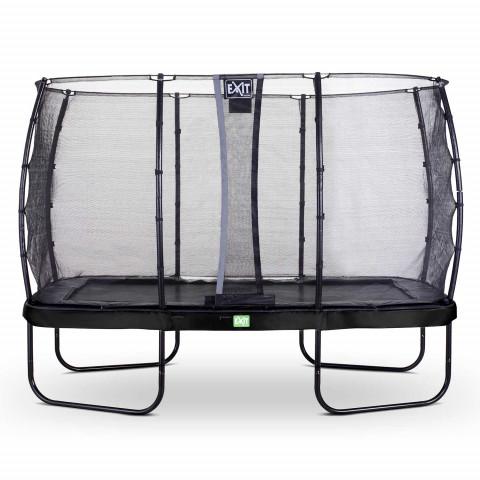 Exit Elegant suorakaide trampoliini turvaverkolla