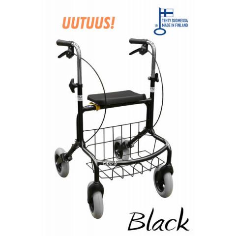 Rollaattori Mauno, musta