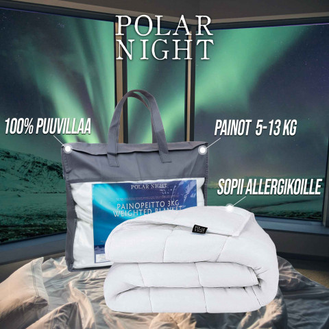 Polar Night painopeitto puuvilla, 150x200cm (5-13kg)