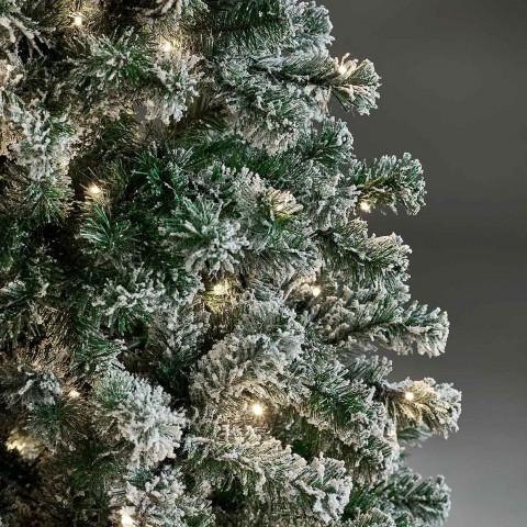 Joulukuusi 150 x 100 cm, LED -valoilla ja lumella