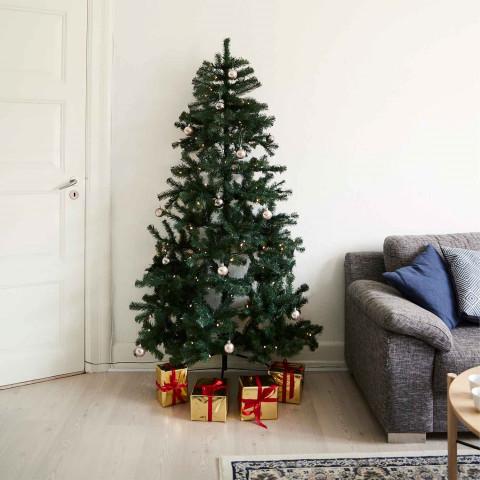 Joulukuusi puolikas 180x118cm, LED -valoilla