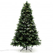 Joulukuusi PE/PVC -sekoite, LED-valoilla (3 kokoa)